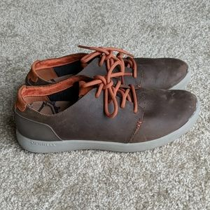 Merrell brown leather sneakers shoes 8.5